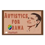 Autistics for Obama Rectangle Sticker