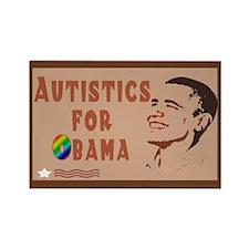 Autistics for Obama Rectangle Magnet