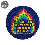 """Autistic Human Being 3.5"""" Button (10 pack)"""