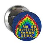 """Autistic Human Being 2.25"""" Button (100 pack)"""
