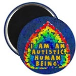 """Autistic Human Being 2.25"""" Magnet (100 pack)"""