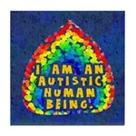 Autistic Human Being Tile Coaster