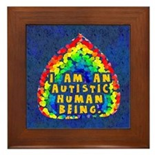 Autistic Human Being Framed Tile