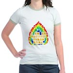 Autistic Human Being Jr. Ringer T-Shirt