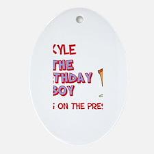 Kyle - The Birthday Boy Oval Ornament