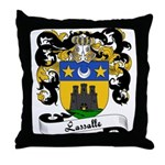 Lassalle Family Crest Throw Pillow