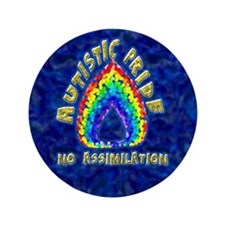 "Autistic Pride 3.5"" Button (100 pack)"