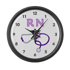 RN Nurse Medical Large Wall Clock
