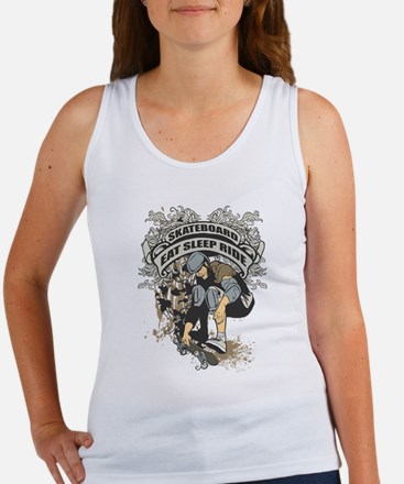 Eat, Sleep, Ride Skateboard Women's Tank Top