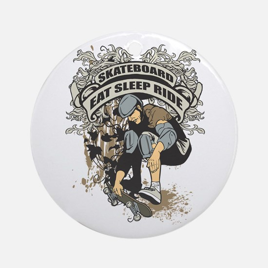 Eat, Sleep, Ride Skateboard Ornament (Round)