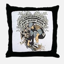 Eat, Sleep, Ride Skateboard Throw Pillow