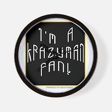 Krazyman Fan Wall Clock