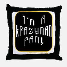 Krazyman Fan Throw Pillow