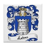 Latour Family Crest Tile Coaster