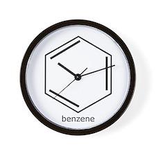 Cute Benzene Wall Clock