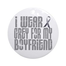 I Wear Grey For My Boyfriend 16 Ornament (Round)