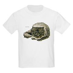 Smoke Persian Cat (Front) Kids T-Shirt