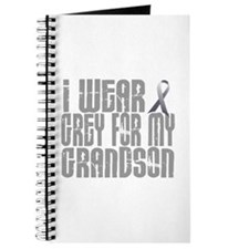 I Wear Grey For My Grandson 16 Journal