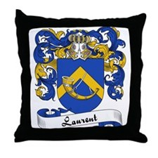 Laurent Family Crest Throw Pillow