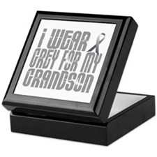 I Wear Grey For My Grandson 16 Keepsake Box