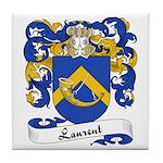 Laurent Family Crest Tile Coaster