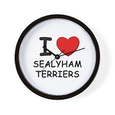 I love SEALYHAM TERRIERS Wall Clock