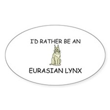 I'd Rather Be An Ermine Oval Sticker