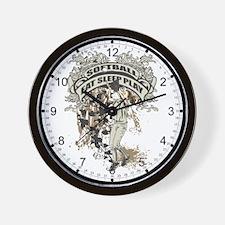 Eat, Sleep, Play Softball Wall Clock