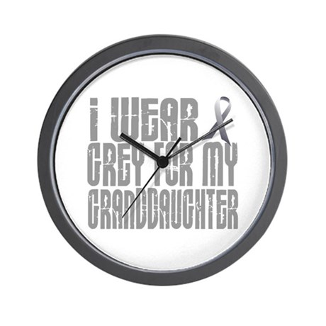 I Wear Grey For My Granddaughter 16 Wall Clock
