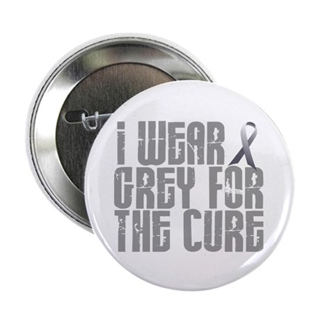 """I Wear Grey For The Cure 16 2.25"""" Button"""
