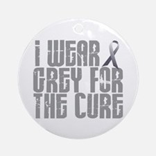 I Wear Grey For The Cure 16 Ornament (Round)