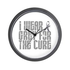 I Wear Grey For The Cure 16 Wall Clock