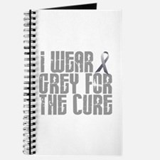 I Wear Grey For The Cure 16 Journal