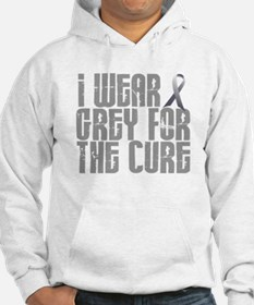 I Wear Grey For The Cure 16 Jumper Hoody