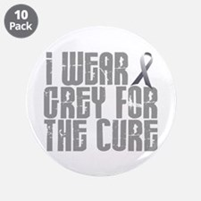 """I Wear Grey For The Cure 16 3.5"""" Button (10 pack)"""