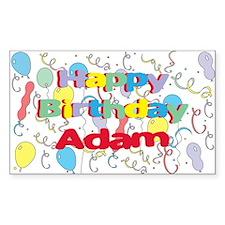 Happy Birthday Adam Rectangle Decal