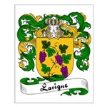 Lavigne Family Crest Small Poster