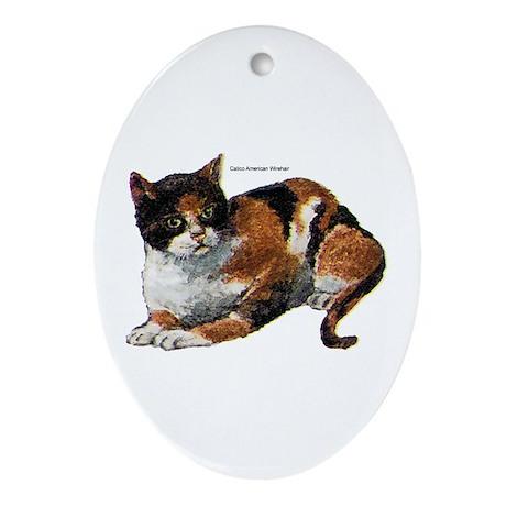 Calico Cat Keepsake (Oval)