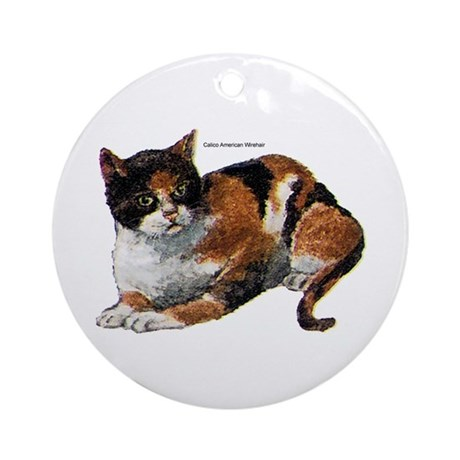 Calico Cat Keepsake (Round)
