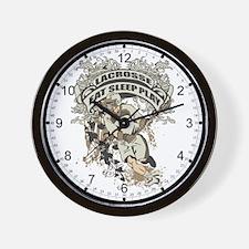 Eat, Sleep, Play Lacrosse Wall Clock