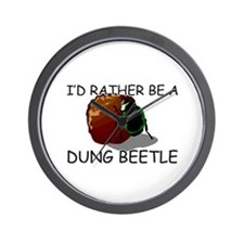 I'd Rather Be A Dung Beetle Wall Clock