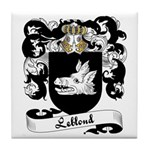 Leblond Family Crest Tile Coaster