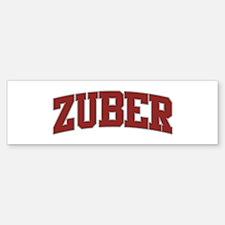 ZUBER Design Bumper Bumper Bumper Sticker
