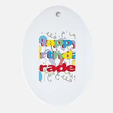 Happy Birthday Braden Oval Ornament