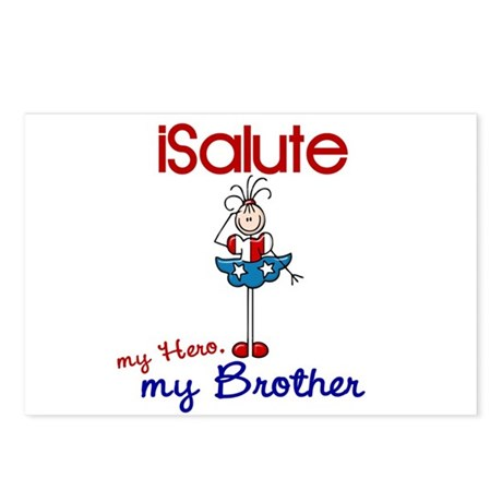 I Salute My Brother 1 Postcards (Package of 8)