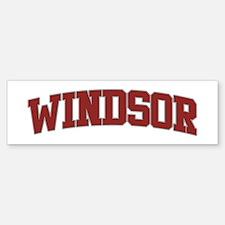 WINDSOR Design Bumper Bumper Bumper Sticker