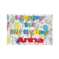 Anna's 1st Birthday Rectangle Magnet