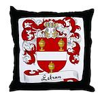 Lebrun Family Crest Throw Pillow