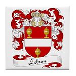Lebrun Family Crest Tile Coaster