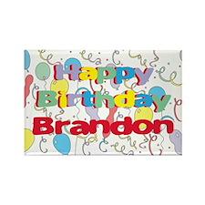 Happy Birthday Brandon Rectangle Magnet